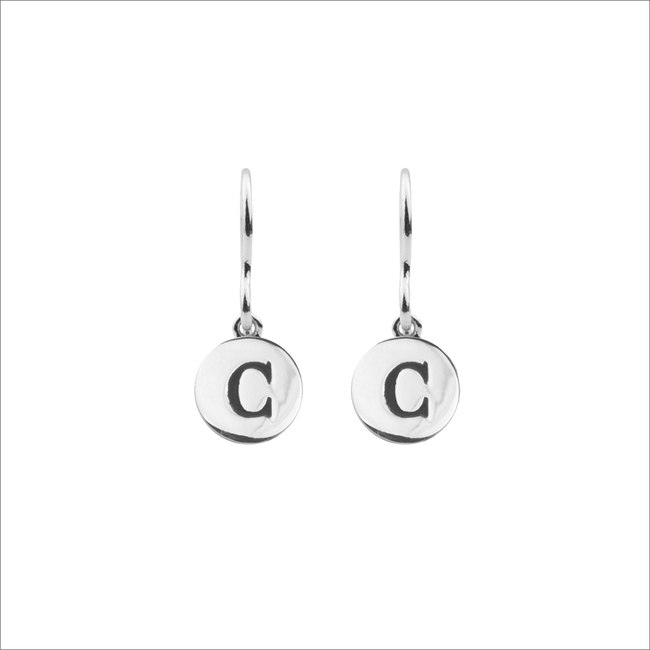 Silver ALLTHELUCKINTHEWORLD Earrings CHARACTER EARRINGS LETTER - large