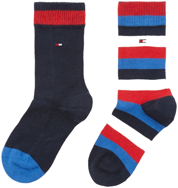 Blue TOMMY HILFIGER Socks TH KIDS BASIC STRIPE SOCK 2P - large