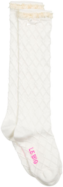 White LE BIG Socks ROCHELLE KNEE HIGH  - large