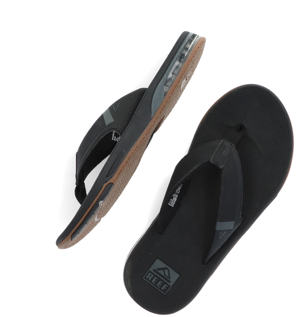 Black REEF Flip flops FANNING - large