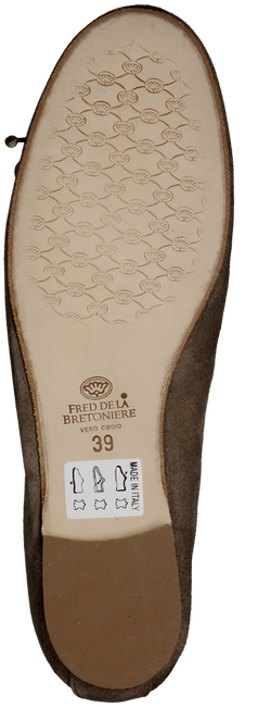 Taupe FRED DE LA BRETONIERE Ballet pumps 101007D - large
