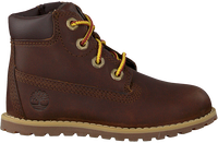 Brown TIMBERLAND Lace-up boots POKEY PINE 6IN BOOT KIDS  - medium
