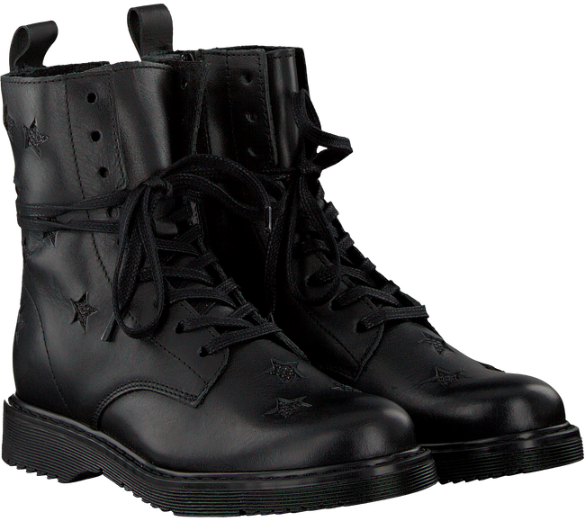 Black STUDIO MAISON Lace-up boots TEENS STAR BOOTTEE - large