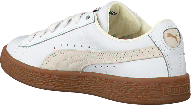 White PUMA Sneakers BASKET CLASSIC GUM DELUXE PS - large