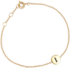Gold ALLTHELUCKINTHEWORLD Bracelet CHARACTER BRACELET LETTER GOLD - small