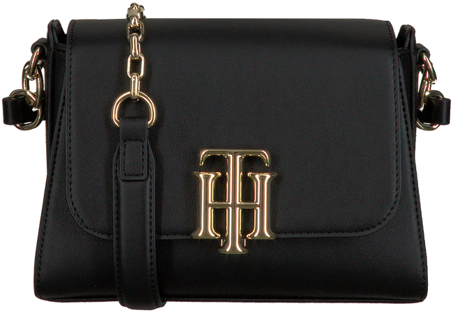 Black TOMMY HILFIGER Shoulder bag LOCK SMALL SATCHEL  - large