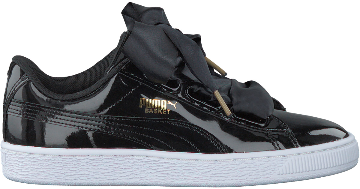 Black PUMA Sneakers BASKET HEART PATENT - Omoda